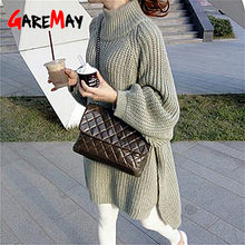 GareMay autumn winter knitted sweater dress women warm turtleneck sexy loose pregnant maxi plus size female ladies long sweaters(China)