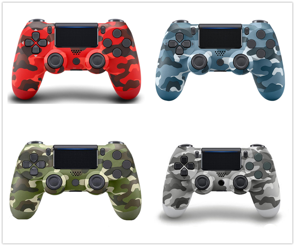 Bluetooth Spielekonsole Farbe: Gold kabellos mit LED-Beleuchtung und Vibrationsfunktion ergonomisch PS4 PS4-Controller
