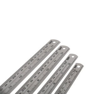 Stainless Steel Double Side Straight Ruler Centimeter Inches Scale Metric Ruler Precision Measuring Tool 15cm/20cm/30cm/50cm