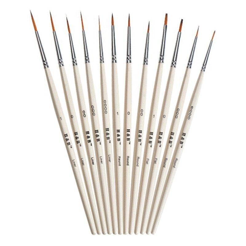 Wooden Nail Art, Line Drawing, Gouache Paint, Stroke Brush, Hook Line Pen, Suitable for Watercolor, Nail Model