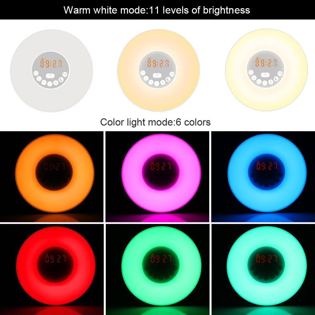 New Gradual Change Luminance LED Warm Light Morning Wake-up Light