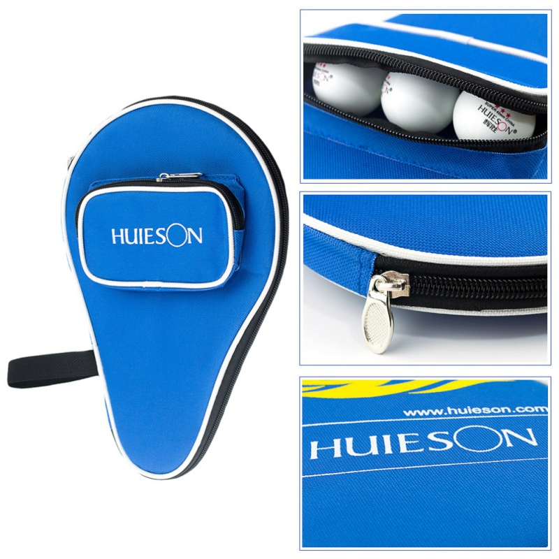 Professional Table Tennis Racket Case With Outer Zipper Bag For Table Tennis Balls Ping Pong Paddle Cover Pouch Protable Case