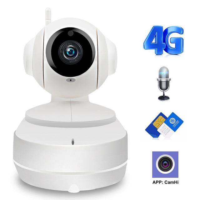 كاميرا واي فاي لاسلكية 3G 4G 1080P 720P HD بطاقة SIM موبايل أمن الوطن مراقبة IP كاميرا للرؤية الليلية مراقبة الطفل Onvif
