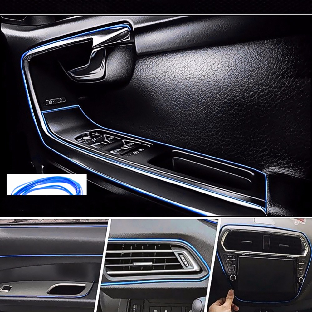 Image 5 - 5M Interior Decoration Car Styling For Abarth 500 Ssangyong Kyron Rexton Korando Actyon Lifan x60 Chery Tiggo Saab Accessories-in Car Stickers from Automobiles & Motorcycles