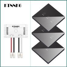 433 МГц 90-250 в стены сенсорный переключатель датчика, общий уровень освещения хрустальное стекло переключение электропитания, 1 способ переключатель