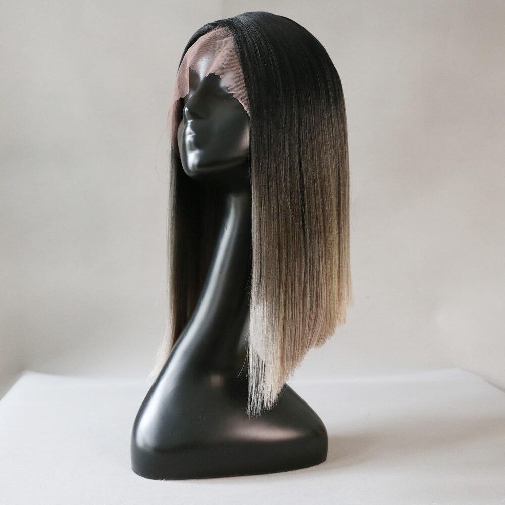 Linna perucas sintéticas do laço para as