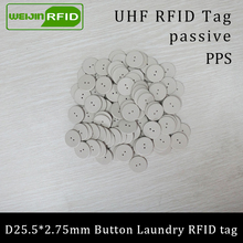 UHF RFID tag laundry PPS button Washable heat resisting 915m 868m 860-960M Alien Higgs3 EPC Gen2 6C smart card passive tags