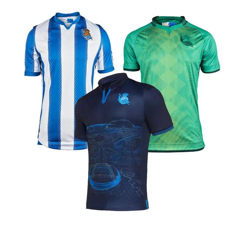 19 20 For Real Sociedad Kids Kits Shirt X.PRIETO JUANMI AGIRRETXE CARLOS MOYA ARITZ Custom Home 2020 Adult Royal Society Shirts