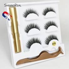 5 Magnet Eyelash Magnetic Liquid Eyeliner& False Eyelashes & Tweezer Set Waterproof Long Lasting Extension
