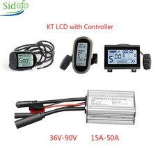 KT LC3/LCD5/LCD6 ekran eBike KT kontrol cihazı 36V/48V 250W1000W/3000W kiti bisiklet aksesuarları için DC denetleyici elektrikli Scooter