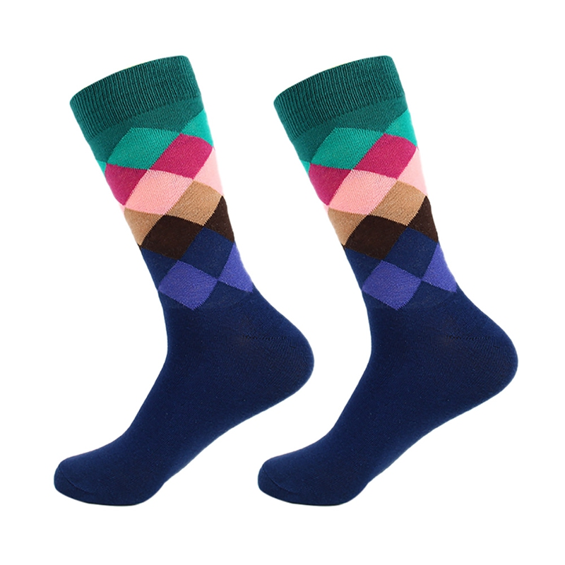 Men's Socks Gradient Color Male Men Compression Socks Cycling Running Compression Socks Casual Dress Long Socks New