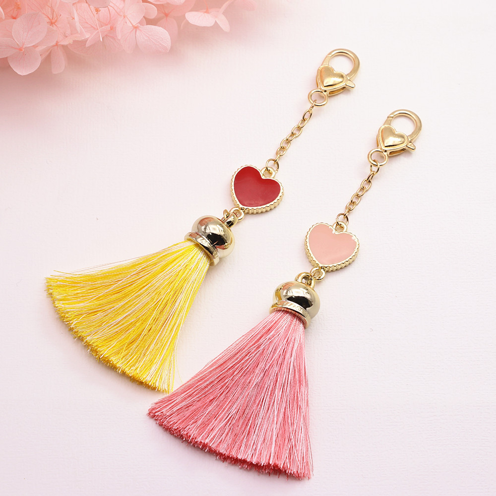 Cute Heart Pendant Lovely DIY Bookmark Journal Spiral Diary Decoration Supplies Pink Red