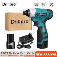 Drillpro-destornillador eléctrico de 16,8 V, Taladro Inalámbrico/destornillador recargable con batería de litio, herramientas eléctricas de 1/4 pulgadas