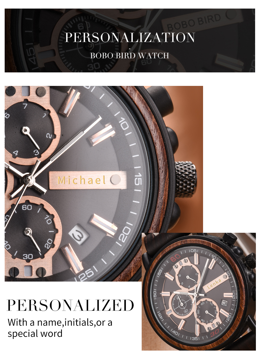 BOBO BIRD Personalized Wooden Watch Men Relogio Masculino Top Brand Luxury Chronograph Military Watches Anniversary Gift for Him Hec8c4983a16345f088124835dd5b3f5eY