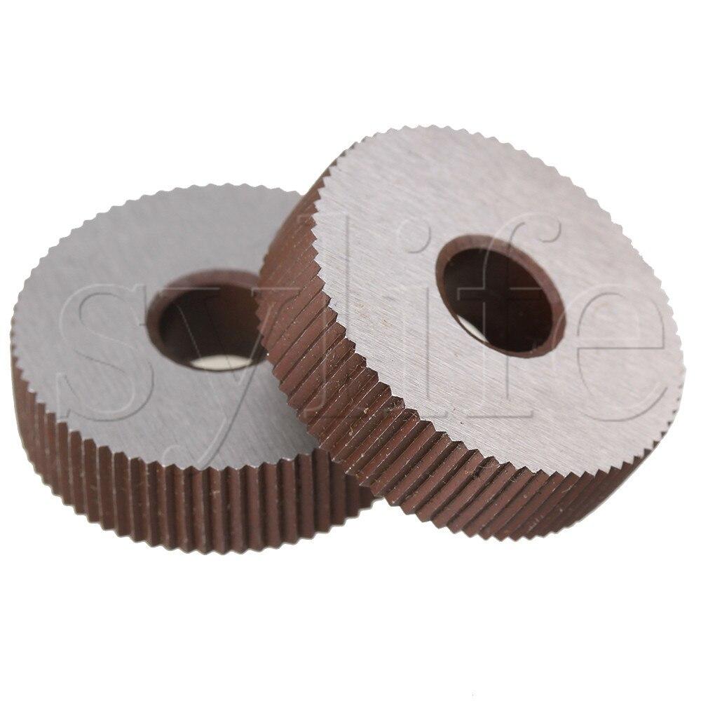 2pcs Knurling Tool Single Straight Wheel Linear Knurl 1.2mm Pitch 8 X 28mm