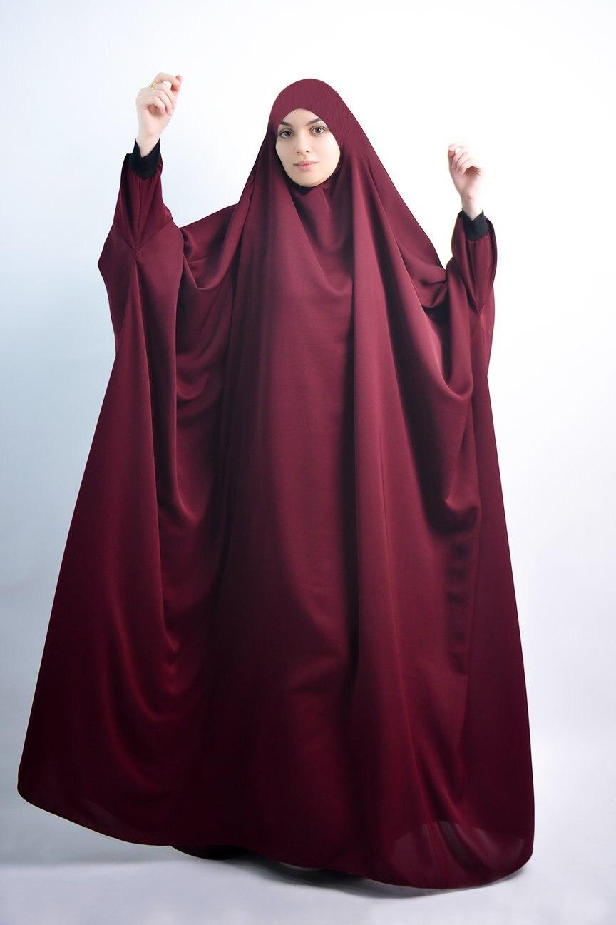 ИД мусульманский женский хиджаб с капюшоном, молитвенная одежда, джилбаб, абайя, полное покрытие, Рамадан, длинное химарское платье, абайя, м...