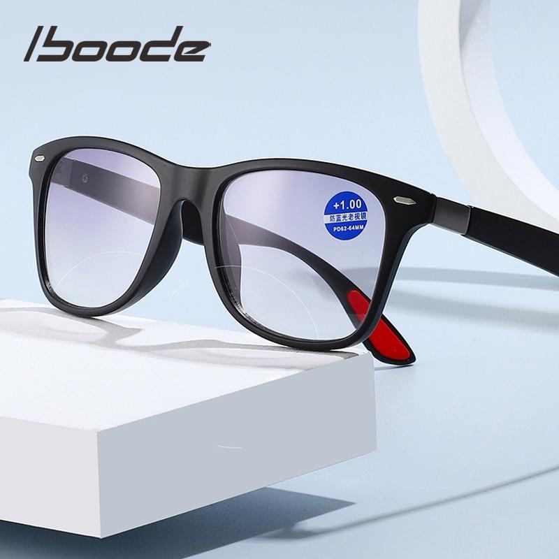 Бифокальные очки iboode для чтения для женщин и мужчин, очки для дальнозоркости, классические квадратные солнцезащитные очки с диоптриями + 1,5, ...