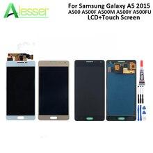 Alesser لسامسونج غالاكسي A5 2015 LCD A500 A500F A500M A500Y A500FU شاشة إل سي دي باللمس شاشة محول الأرقام + أدوات + لاصق