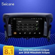 Seicane gps estéreo 2din carro hd 9 android android android 8.1 auto rádio de áudio para mitsubishi eclipse 2018 com aux apoio wi fi carplay tpms
