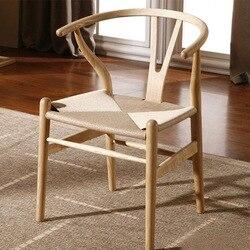 Производители поставляют в китайском стиле однотонное обеденный стул из дерева Повседневный подлокотник Taishi пеньковая веревка стул бытов...