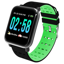 A6 Smart Watch Wearable Device IP67 Waterproof Bluetooth Pedometer Heart Rate Monitor Color Display SmartWatch For Android/iOS