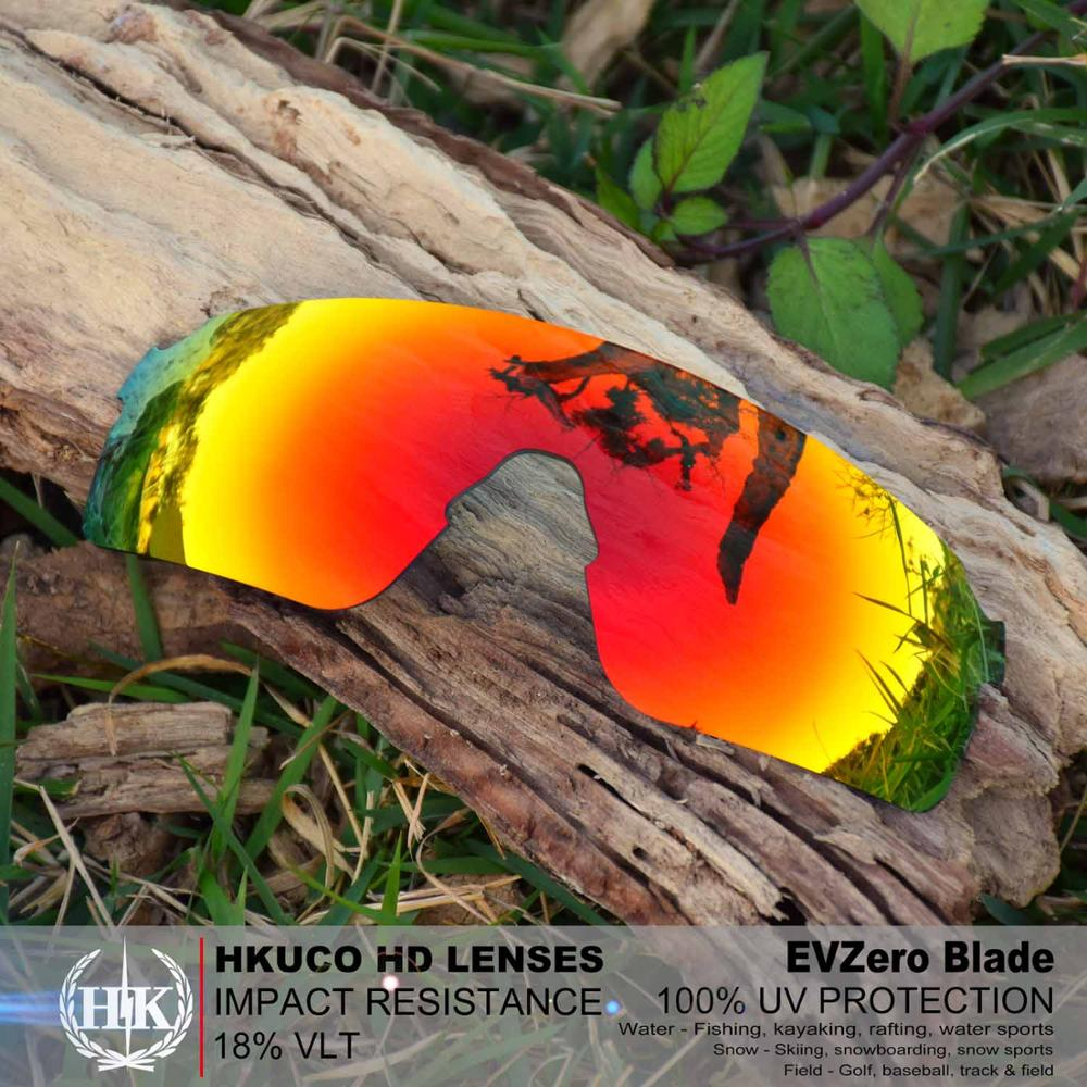 HKUCO Replacement Lenses For EVZero Blades Sunglasses Red Polarized