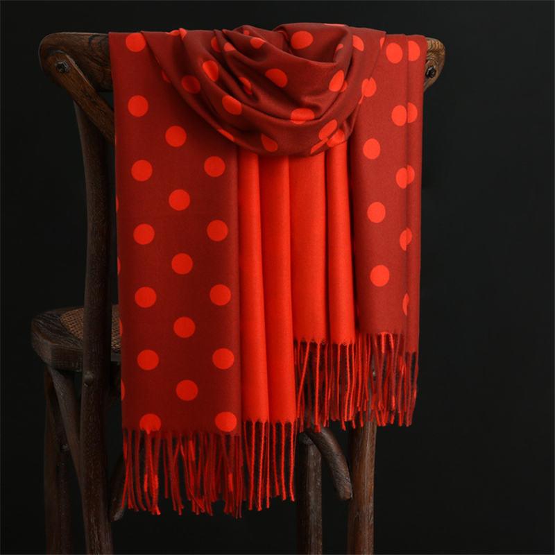 Dot Pattern Winter Warm Cashmere   Scarves   women 2019 New ladies Shawls and   Wrap   Brand Designer Pashmina Thick Capes Femme foulard