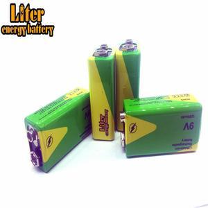 Image 5 - 1/2/4 adet yüksek kapasiteli 1200mah 9v Volt şarj edilebilir Ni mh piller 9 Volt Nimh aletleri duman alarmı pil paketi