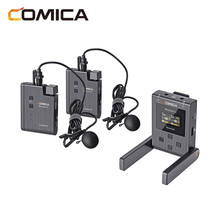 Comica BoomX U אלחוטי מיקרופון U1 U2 רמת שידור מיקרופון מיני UHF משדרי מקלט עבור