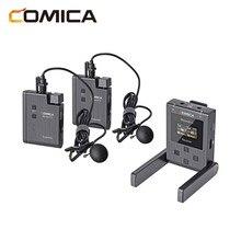 Comica boomx u mikrofon bezprzewodowy U1 U2 poziom nadawania mikrofon Mini nadajniki UHF zestaw odbiornika fo