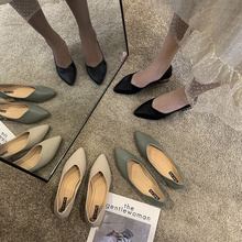 2020 Women Leather Pumps Shoes Office Lady High Heel Pointy Toe Slip On Work Shoes Spring Summer Classic Heel 4 cm cresfimix femmes hauts talons women fashion comfortable slip on pu leather high heel shoes lady cute sweet office shoes b2915