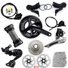Shimano 105 R7020 R7070 11 hız hidrolik disk Groupset yol bisikleti Groupset RT700 rotorlar
