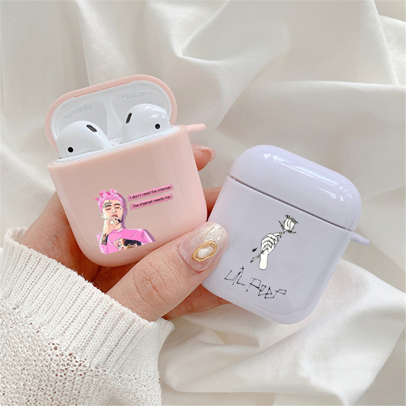 Lil Peep Lil Bo Peep Anime  Case For Apple airpods Cases 1 2 Clear For Airpod pro Case in Earphone Accessories Fundas Cover