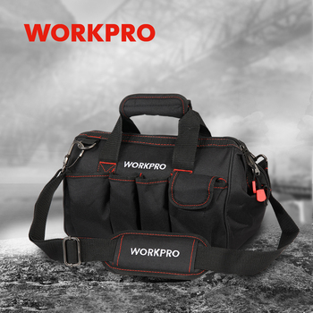 WORKPRO Waterproof Tool bag Travel Bags Men Crossbody Bag Large Capacity Free Shipping 4 size(12 14 16 18 inch) - discount item  37% OFF Tools Packaging