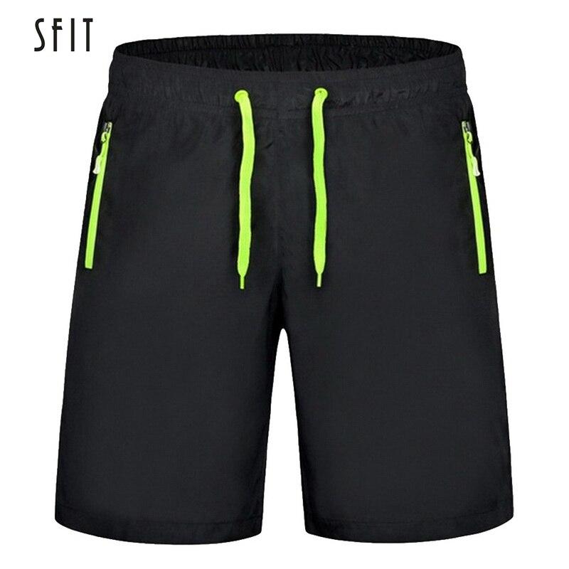 SFIT 2019 Summer Men   Shorts   Zipper Pockets Loose Men's Casual   Shorts   Black Solid Drawstring Waist Bermuda   Shorts   Male Plus Size