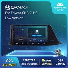 6G 128G Android 10,0 reproductor de Radio para coche para Toyota CHR C-HR 2016, 2017, 2018, 2019 de baja GPS estéreo DSP Carplay WIFI de 2 din DVD
