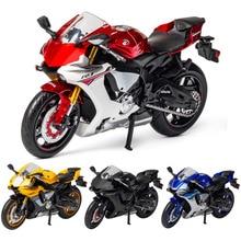 1:12 YZF R1 мотоцикл модель литая под давлением сплав игрушка мотоцикл модели гоночных автомобилей Машинки Игрушки для детей коллекционные