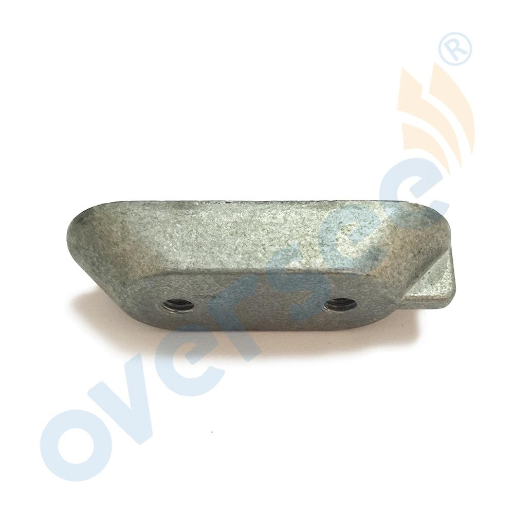 6E0-45251 Outboard Anode Plate Small Zinc 6E0-45251-12 For Yamaha Outboard Parts 2T Parsun Hidea Powertec 4-15HP