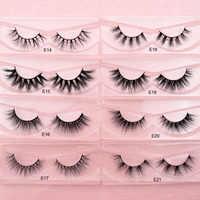 Visofree Mink Eyelashes Natural False Eyelashes Fake Eye Lashes Long Makeup 3D Mink Lashes Extension Eyelash Makeup for Beauty
