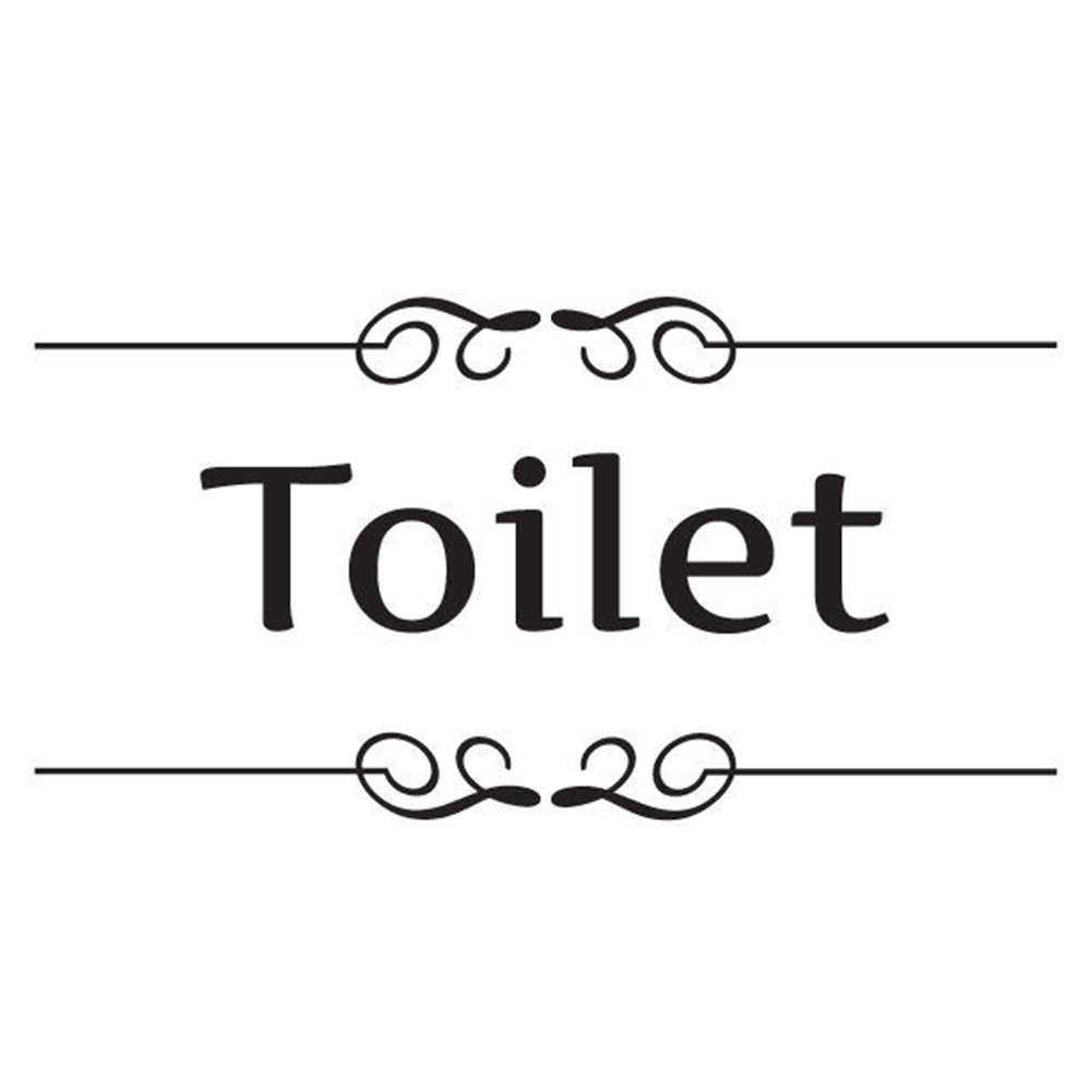 English label wall sticker toilet/bathroom door decal and decoration