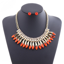 New jewelry set Europe and America exaggerated pendant necklace female fashion popular