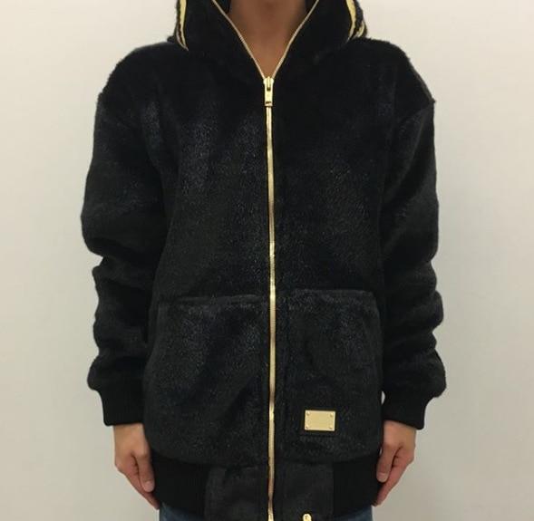 2019 черная Золотая толстовка с вышитой акулой, шерстяная толстовка с капюшоном Harajuku, топ, длинное пальто, Толстовка для косплея в стиле хип хоп - 4