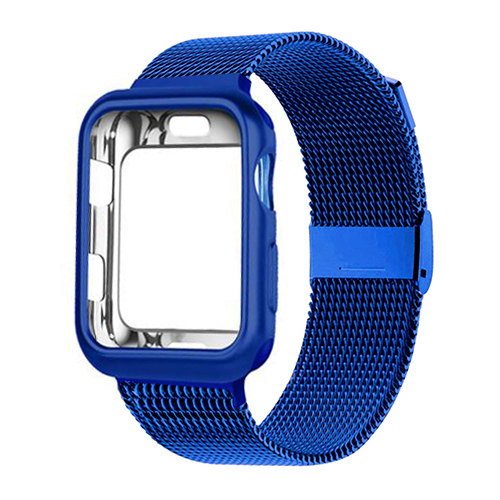 Case+strap for Apple Watch 6 band 44mm 40mm 42mm 38mm Metal belt Milanese Loop bracelet watchband for iWatch series 6 5 4 3 44mm Watchbands    -