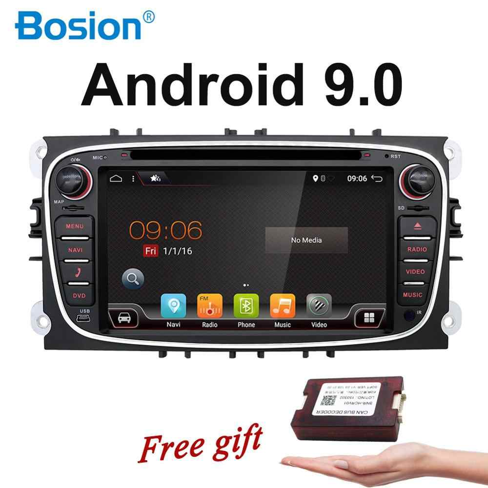 2 Din écran capacitif Android 9.0 voiture DVD Navigation pour Ford Mondeo s-max Focus II GPS Radio Wifi 4G Bluetooth