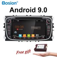 2 Din Capacitive Screen Android 9.0 Car DVD Navigation for Ford Mondeo S Max Focus II GPS Radio Wifi 4G Bluetooth