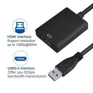 Image 2 - USB 3.0 do wejście HDMI konwerter kabel Adapter USB do HD zewnętrzna karta graficzna wielu Adapter monitora dla Windows 7/8/10 laptopa