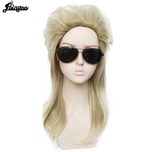 Image 3 - Ebingoo 70s 80s Halloween Costume Retro Rocking Punk Metal Disco Mullet Synthetic Cosplay Wig Women Long Straight Blonde Wig