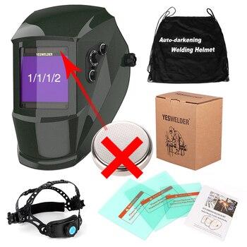 YESWELDER Large Screen Welding Mask True Color Welding Helmet Solar Auto Darkening Weld Hood without Battery 8