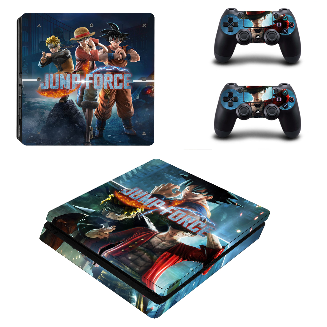Jump Force Style Skin Sticker for PS4 Slim Console & Controllers Decal Vinyl Skins Cover Game Accessories YSP4S-3412