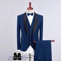 2020 Elegant Luxury Man Suit Groom Wedding Dresses Latest Coat Pant Designs Blazer Male Classic 3 Piece Mens Suit Plus Size 4XL